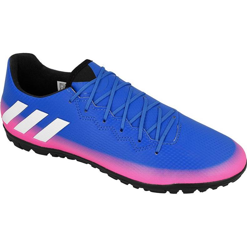 Chaussures de football Adidas Messi 16.3 Tf M bleu