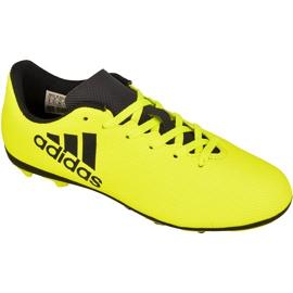 Chaussures de foot adidas X 17.4 FxG Jr S82404 jaune