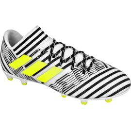 Chaussures de foot adidas Nemeziz 17.3 Fg M S80599 blanc, noir blanc