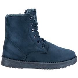 Forever Folie bleu Chaussures en daim chaudes