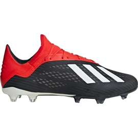 Chaussures de foot adidas X 18.2 Fg M BB9362 noir noir
