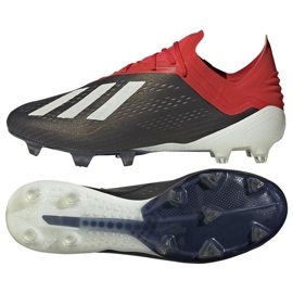 Chaussures de foot adidas X 18.1 FG M BB9345 noir