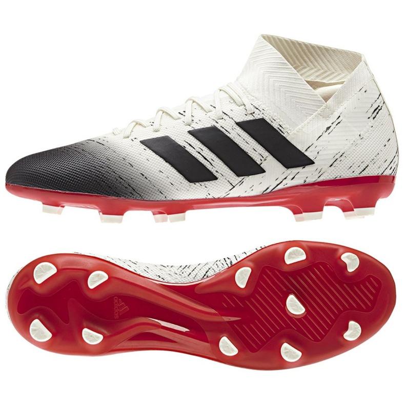 Chaussures de foot adidas Nemeziz 18.3 Fg M BB9437 blanc blanc