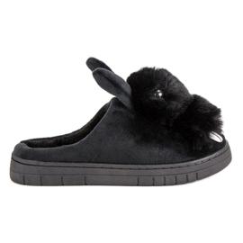 Noir Pantoufles chaudes
