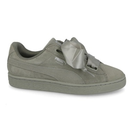 Vert Chaussures Puma Suede Heart Pebble W 365210 02