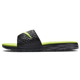 Noir Chaussons Nike Benassi Solarsoft Slide 705474-070