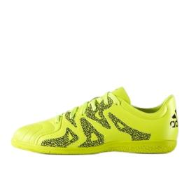 Chaussures Indoor adidas X 15.3 En Cuir Jr vert