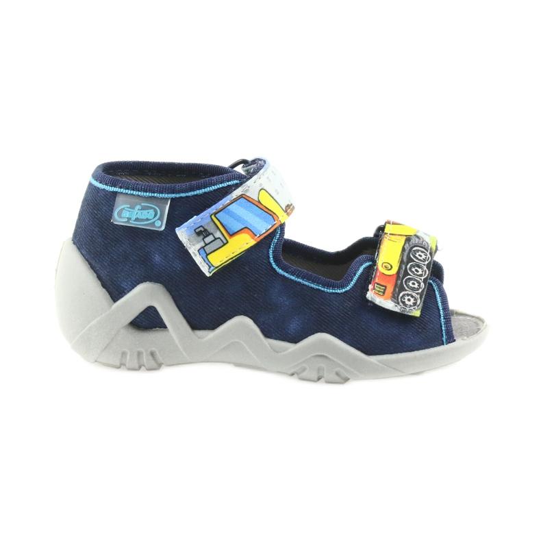 Befado pantoufles sandales chaussures enfants 250P077 marine