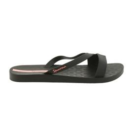 Noir Tongs Ipanema pour chaussures femmes 26263