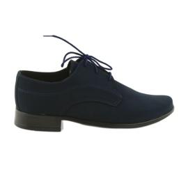 Chaussures de communion en daim pour enfants Miko marine