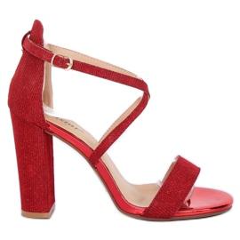 Sandales sur le poteau rouge NC791 Red