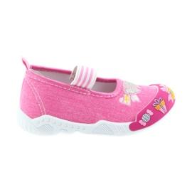American Club rose Chaussures de sport américaines pour enfants sur une semelle intérieure en cuir élastique