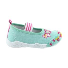 American Club vert Chaussures de sport américaines pour enfants sur une semelle intérieure en cuir élastique