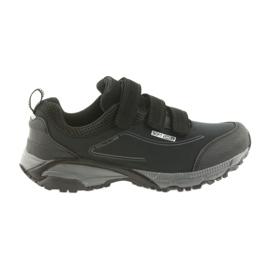 American Club ADI, chaussures de sport pour femme avec velcro softhell imperméable américain WT08 / 19 noir