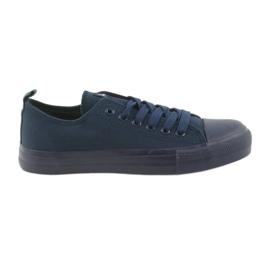 Chaussures de tennis homme attaché bleu American Club LH05 marine