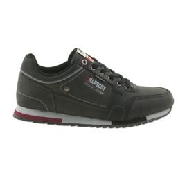 Noir ADI chaussures de sport pour hommes American Club RH03 / 19