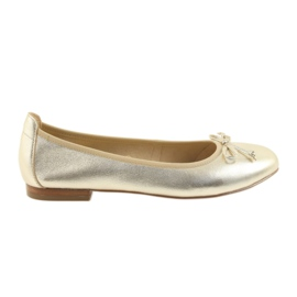 Jaune Ballerines Caprice or chaussures pour femmes 22102