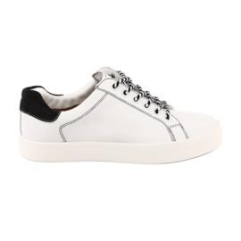 Sneakers blanches pour femmes Caprice 23203 largeur réglable