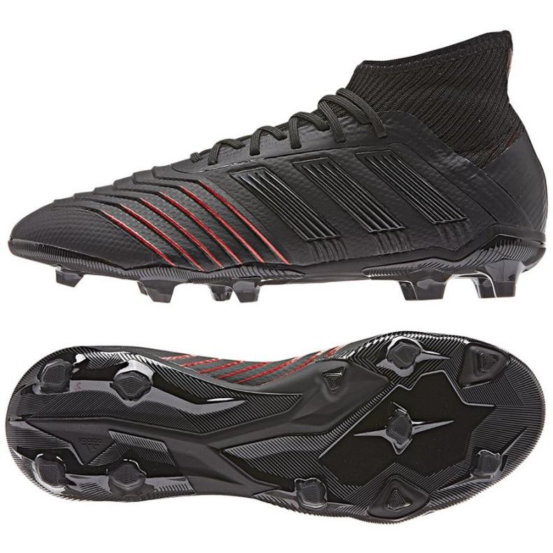 Chaussures de foot adidas Predator 19.1 FG Jr D97997 noir