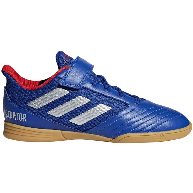 Chaussures Indoor adidas Predator 19.4 In Sala Jr CM8550 bleu bleu