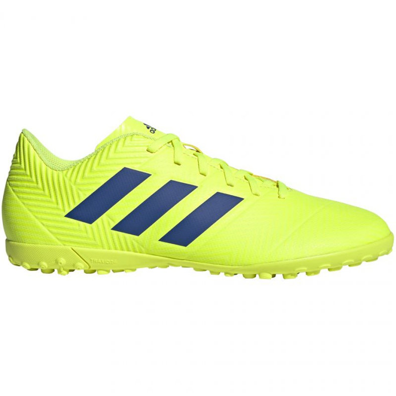 Chaussures de foot adidas Nemeziz 18.4 Tf M BB9473 jaune jaune