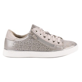 Kylie Casual Silver Sneakers gris