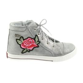 Chaussures chaussure filles argent Ren But 4279 gris