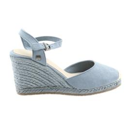 Big Star sandales espadrilles 274A170 bleu