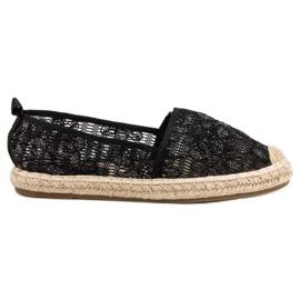 Sweet Shoes noir Espadrilles en dentelle