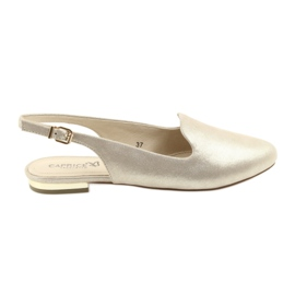 Jaune Chaussures d'or Caprice lordsy pour femmes 29400