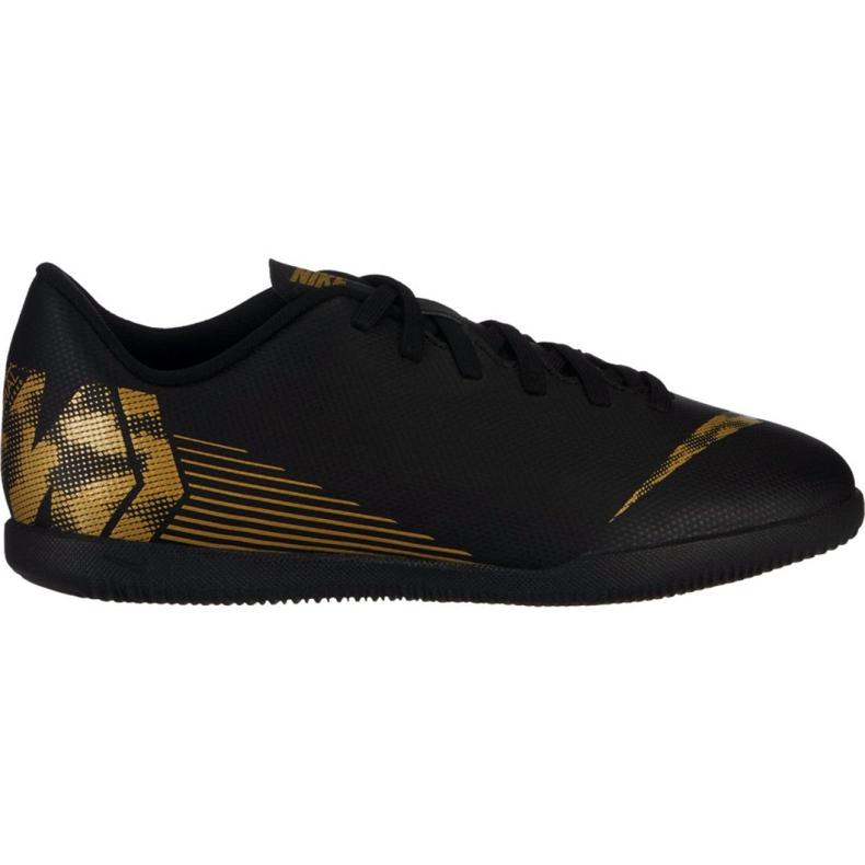Chaussures d'intérieur Nike Mercurial Vapor X 12 Club Ic Jr AH7354-077 noir noir