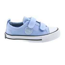 Chaussures à lacets Velcro American Club LH50 bleu pour enfants