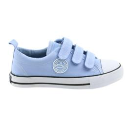 Sneakers enfants chaussures velcro American Club blue LH49