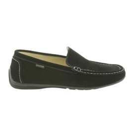Mocassins Chaussures pour hommes en cuir American Club 01/2019 noir