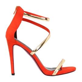 Sandales sur une broche orange 988-58 Orange