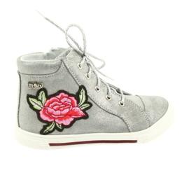 Chaussure chaussure filles argent Ren But 3237 gris