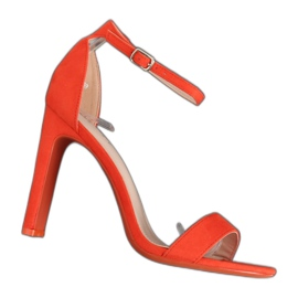 Sandales à talons orange NF-37P Orange