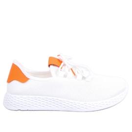 Chaussures de sport blanches et orange NB281 Orange