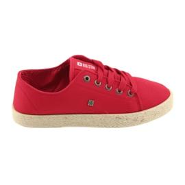 Ballerines Espadrilles Chaussures Dames rouge Big star 274424