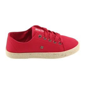 Ballerines Espadrilles Chaussures Dames rouge Big star 274424