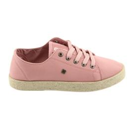 Chaussures ballerines pour femmes espadrilles rose Big star 274425