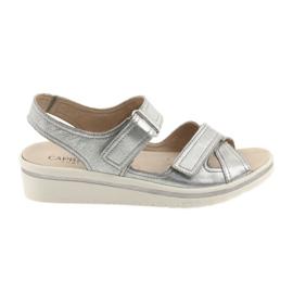Gris Sandales femme Caprice sandales argent