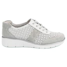 Filippo blanc Chaussures en cuir ajourées