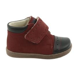 Chaussures garçon à velcro Ren But 1535 bordeaux