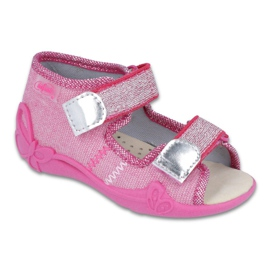 Chaussures enfant jaune Befado 342P001 rose