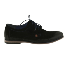 Chaussures en daim pour hommes Nikopol 1709 noir