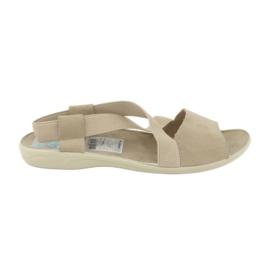 Sandales pour femmes Adanex 17495 beige brun