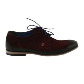 Chaussures en daim pour hommes Nikopol 1709 bordeaux
