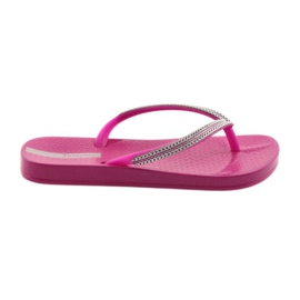 Tongs chaines argentées Ipanema 82528 rose