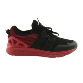Chaussures de sport pour hommes DK 18332 noir / rouge